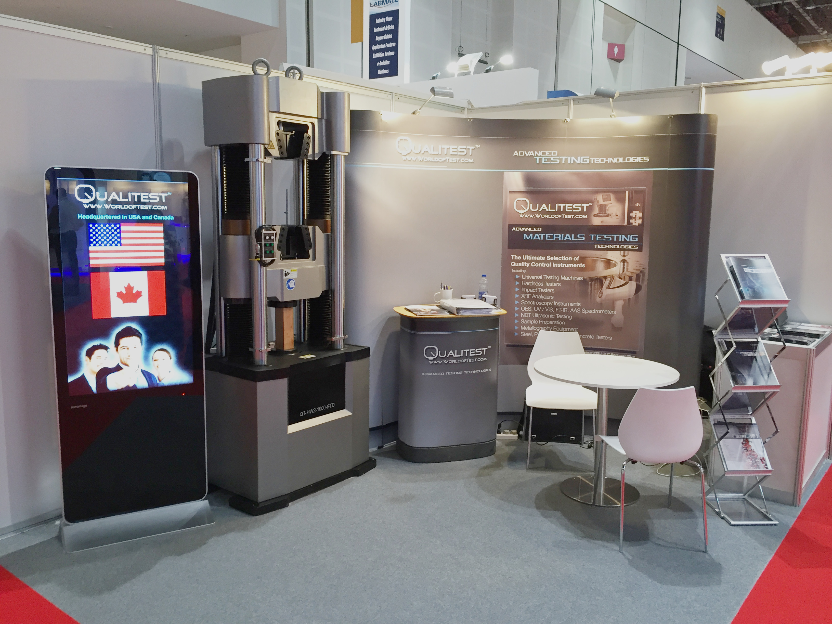 Qualitest showcases its Hydraulic Universal Testing Machines at the Arab Lab Expo